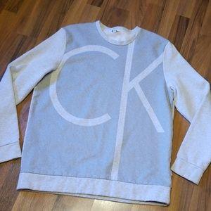Calvin Klein | Oversized Gray CK Logo Sweatshirt